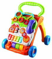 baby musical walker - Free DHL UPS delivery hot sell sit stand baby walker multifunctions music playing for baby educational cheap price