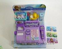 cash register - 2015 new baby boys girls Frozen Cash Register kids Elsa Anna Pretend Play Furniture Toys children Educational Interactive toys