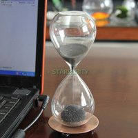 Wholesale Iron Powder Flower Magnet Sandglass Magnetic Hourglass Timer Birthday Gift Office Home Wedding Decor
