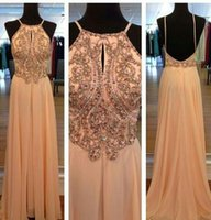 party dresses for women - Sexy Robe De Soiree Maxi Long Evening Gowns Chiffon A line Wedding Party Dresses For Woman Beaded Prom Dresses w