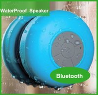 Cheap wholesale Waterproof Wireless Bluetooth Speaker Shower Car Handsfree Receive Call mini Suction IPX4 speakers Mic Promotion 2015 DHL