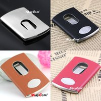 Wholesale Creative Card Case Modern Thumb Slide Out Stainless Steel Pocket Business Credit Card Holder Cover