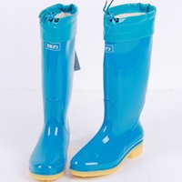 Wholesale Authentic Warrior rain boots tall canister boots female models plus cotton waterproof overshoes slip resistant shoes shoes tendon at the end