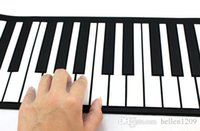 Wholesale NEW Roll Up MIDI Soft Key Synthesizer Electronic Piano Keyboard Mic Jecksion