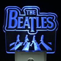 Wholesale ws0063 The Beatles Band Music Logo Bar Day Night Sensor Led Night Light Sign