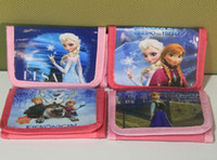 Wholesale Frozen elsa Anna cartoon wallet frozen change pocket wallet styles
