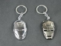 Wholesale 6 cm metal Iron man key ring creative styles for choice best christmas gift gold silvery hot sale