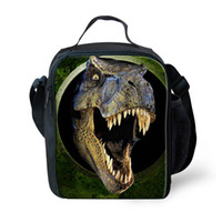 picnic backpack - 2015 design D dinosaur kids lunch box lunch bags cool outdoor picnic thermal lunchbox children Insulated zoo lunch bag Gifts