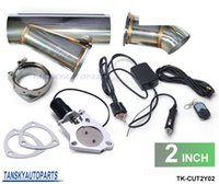 Wholesale TANSKY quot Elextric Exhaust Catback Downpipe Cutout E cut Out W Switch ByPASS Valve Kit Remote TK CUT2Y02