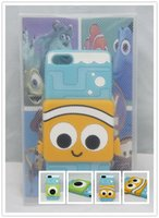 alien case - 3D Cartoon Finding Nemo Clownfish Sulley Mike Alien Soft Silicone Case Cover For iphone s iphone5s g