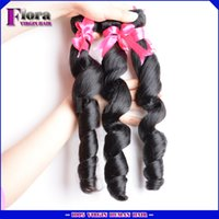 big lots deals - 4pcs Brazilian Loose Wave virgin hair bundle deals Grade a Unprocessed Natural big wavy hair weave extension cheap sale