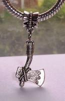 antique hatchets - Hot Antique silver Hatchet Dangle Beads Fit European Charm Bracelets x13mm