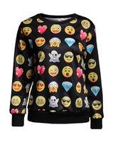 Mulheres Homens personalizado Emoji Corredores Hoodies camisola dos desenhos animados 3D gola Sports Corredor da ginástica pulôver manga comprida com capuz da camisola