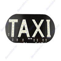 auto cab - Auto Vehicles Car Windscreen Cab Sign White LED Taxi Light Lamp V order lt no track