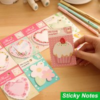 Wholesale 60 Lovely memo paper Cute sticky notes Writing marker Adhesive stickers papelaria stationery School supplies