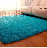 area rug dining room - Cream Sea Blue x300cm Anti skid Soft Fluffy Shaggy Home Area Rug Dining room Carpet Comfy Bedroom Floor Mat Bath Rug