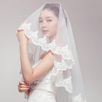 Cheap BX1 2015 new car bone lace bridal veil wedding short paragraph 1.5 meters