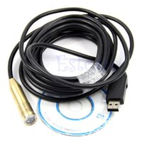 batteries borescope - M USB Cable LED Waterproof Borescope Endoscope Inspection Tube mini Camera New