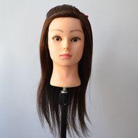 Wholesale Manequin Dummy Training Head Indian hair Fiber Brown Hair Training Mannequin Head With Hair BM004