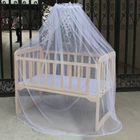 Cheap Brand new 2015 Baby Bed Mosquito Mesh Dome Curtain Net for Toddler Crib Cot Canopy free shipping
