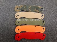 Wholesale Spyderco C81 Knife Handle G10 Handle Camouflage Orange Green Desert Red Color