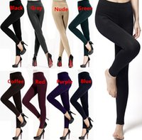 Nylon+Spandex women winter tights - Hot Sales Women Lady Winter Thick Warm Slim Stretch Footless Nylon Spandex Tights Leggings Pants Fx141