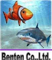 Wholesale Fashion Hot Air Swimmers Shark Remote Control Remote Clownfish Flying Fish Ugly Fish Aerial Shark LLFA4770F