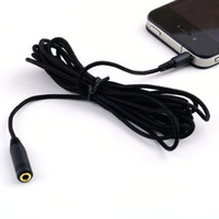 Wholesale 1Pcs mm ft Audio Headphone Stereo Female to Male Extension Cable Cord For Mp4 Brand New Hot Selling
