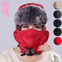 Wholesale Faux Fur Adult Mens Womens Ear Masks Warmer Warm Winter Style Trapper Hat Russian Hats