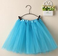 Wholesale pink white blue green red orange purple tulle new dance ballet adult tutu skirts for women