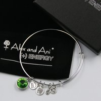 august birthstone silver charms - mm diameter Sterling Silver plated alloy August Birthstone Charm bracelet with box Drawstring bag