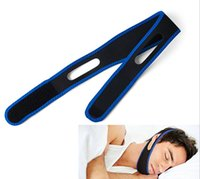Wholesale Unisex Free Size Stop Snoring Chin Strap Anti Snore Belt Apnea Jaw Support Solution Sleep Opp Bag
