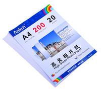 Expreso gratuito A4 (210 * 297 mm) 200g 20 hojas de papel fotográfico de alto brillo impermeable Papel fotográfico Papel tinta, Por una variedad de impresoras de inyección de tinta