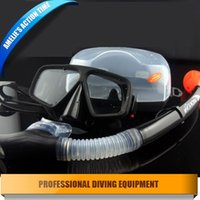 scuba diving equipment - Professional scuba diving equipment diving mask and snorkl set silione mask tempered glasses full Black for diving spearfishing