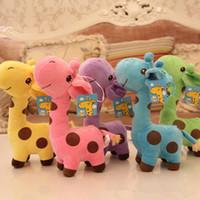 giraffe gifts - Sample Order Giraffe Plsuh Kid Toys Soft Stuffed Cloth Doll Christmas Girl Children Gift For Toys S2557