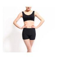 Wholesale Yoga Shorts Spring And Summer Female Pure Black Shorts Polyamide Fiber Recreational Sports Yoga Shorts Sell Like Hot Cakes