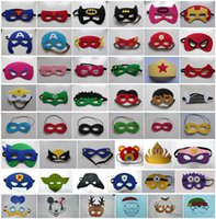 Halloween masks - 107 Styles Children Halloween Cosplay Mask Party Masquerade Felt Decoration Mask Superhero Cape Performance Mask party pack