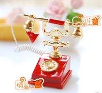 antique miniature furniture - mini dollhouse accessory furniture luxury antique telephone Miniature Dollhouse Vintage furniture pretend play toy for girl
