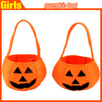 woven basket - Halloween Woven Pumpkin Bag Children Solid Hand Candy Basket Cosplay Makeup Party Performance Props Clothing Accessories