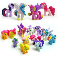 Wholesale set little ponies pvc Action Figures littlest pet shop little horse pony Rainbow Dash Kids toys dolls brinquedos