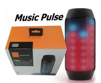 Wholesale Pulse bluetooth mini speaker Bluetooth audio wireless big sound box support TF card portable LED light FM speakers