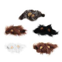 Wholesale Pet Cat Dog Emulation Hair Mane Ears Head Cap Autumn Winter Dress Up Costume Muffler Scarf Brand New