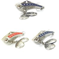 bass spoon - Fishing Lure Spoon Lure Red Blue Metal Lure Fresh Water Shallow Water Bass Walleye Crappie Minnow Fishing Tackle SP8