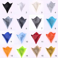 Wholesale Noble Man s Satin Pocket Square Handkerchief Wedding Party Prom Ornaments MN500