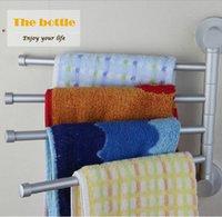 bath towel rod - Elegant bathroom space aluminum bathroom shelf rod towel rack rotating bath towel rack rod single pole four tier