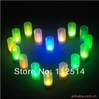 flicker candle - High brightness battery flicker LED candle with cm cup for centerpiece