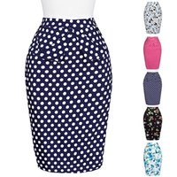 Wholesale Grace Karin Occident S Summer Dress Vintage Retro Cotton Polka Dots Hips Wrapped Skirt for Women CL008928