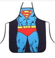 Wholesale 30pcs fashion super man batman spiderman flash green giant apron creative whimsy novelty couples party gifts CM