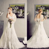real pearl - Wedding Dresses Real Images Off Shoulder Bateau Long Sleeves Lace Appliqued Beading Vintage Court Train Pearls Sheer Wedding Dress