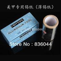 hair remover gel - NEW M Tinfoil Aluminum Paper Foil Thick Hairdressing Nail Art Hair Standard Remover UV Gel Wraps Polish Remove